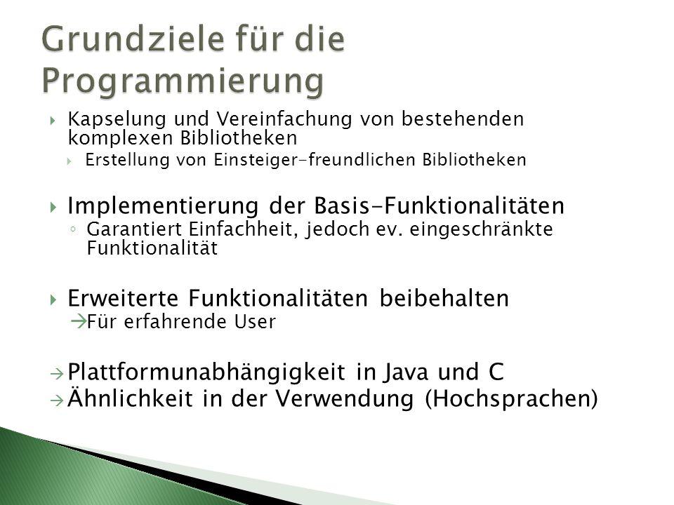 Grundziele für die Programmierung