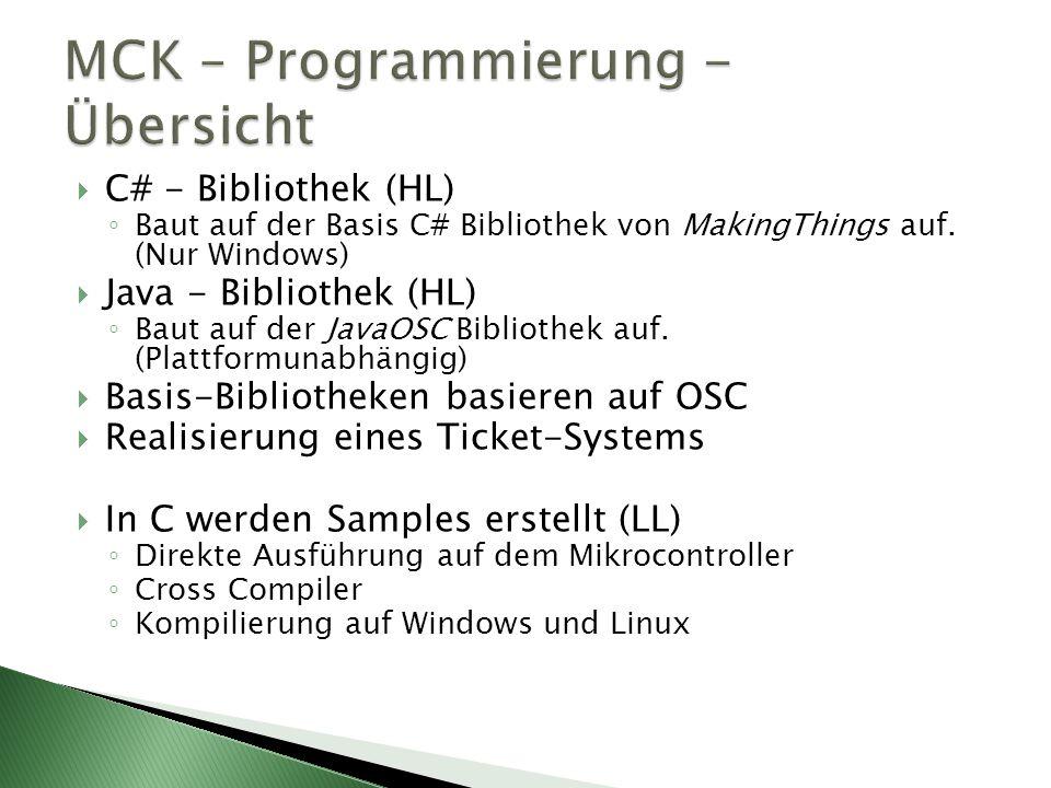 MCK – Programmierung - Übersicht