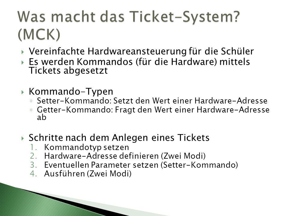 Was macht das Ticket-System (MCK)