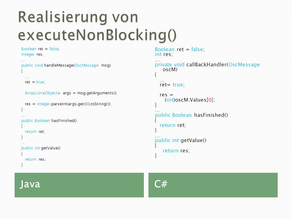 Realisierung von executeNonBlocking()
