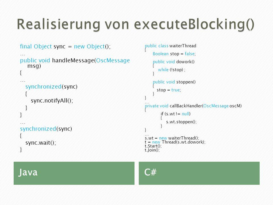 Realisierung von executeBlocking()