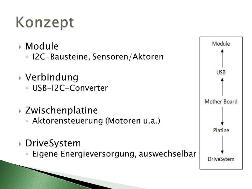 Konzept Module Verbindung Zwischenplatine DriveSystem