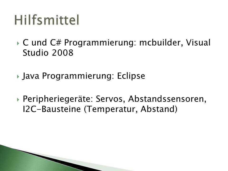 Hilfsmittel C und C# Programmierung: mcbuilder, Visual Studio 2008