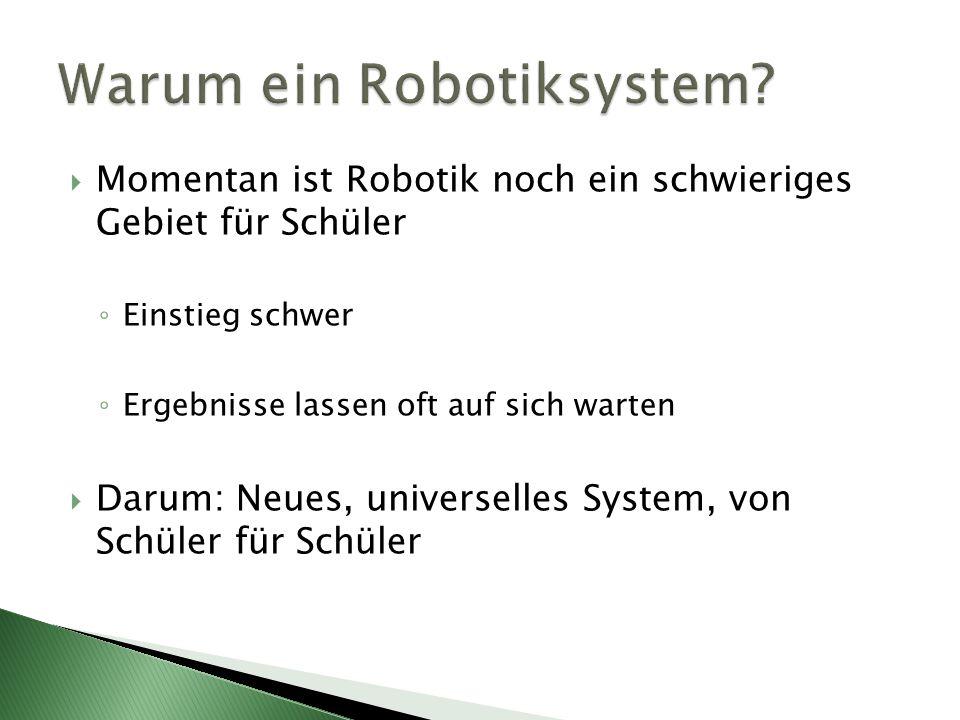 Warum ein Robotiksystem
