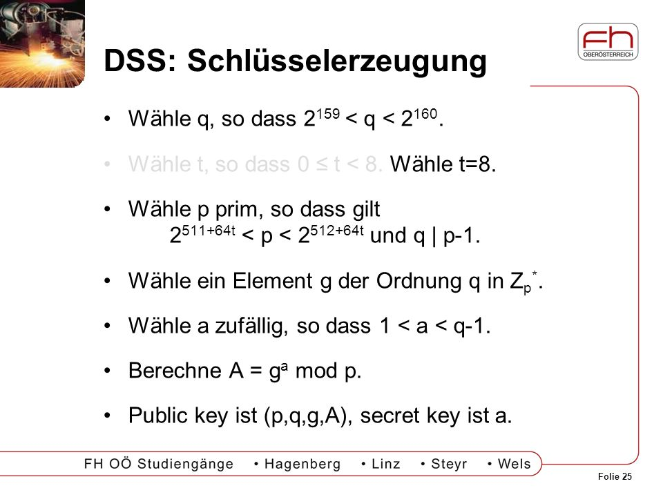 DSS: Schlüsselerzeugung