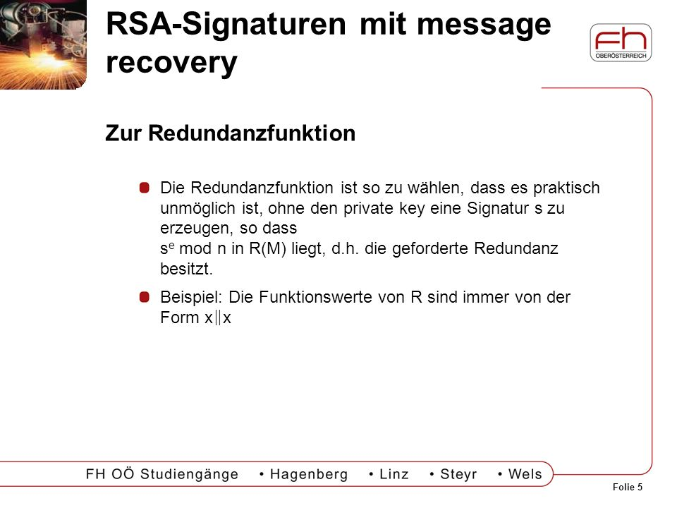 RSA-Signaturen mit message recovery