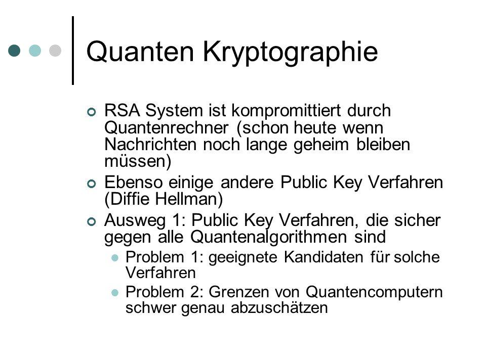 Quanten Kryptographie