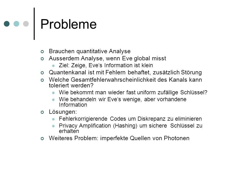Probleme Brauchen quantitative Analyse