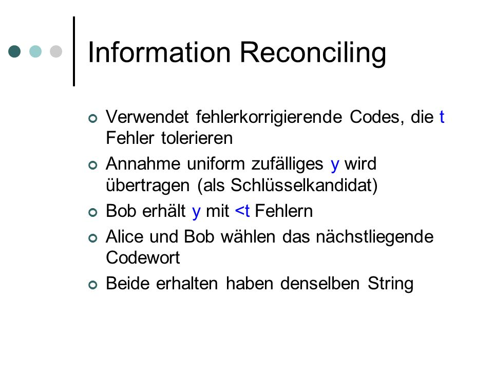 Information Reconciling