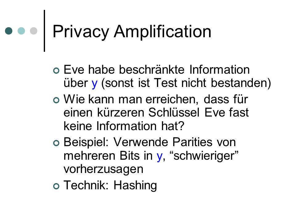 Privacy Amplification
