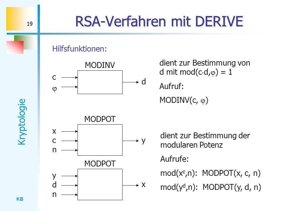 RSA-Verfahren mit DERIVE