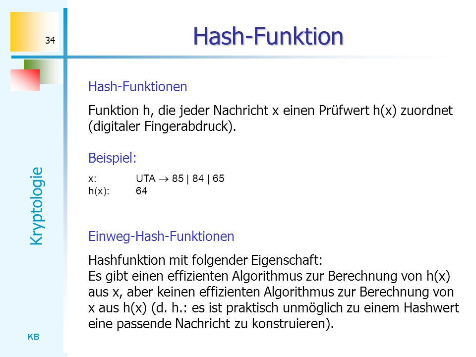 Hash-Funktion Hash-Funktionen