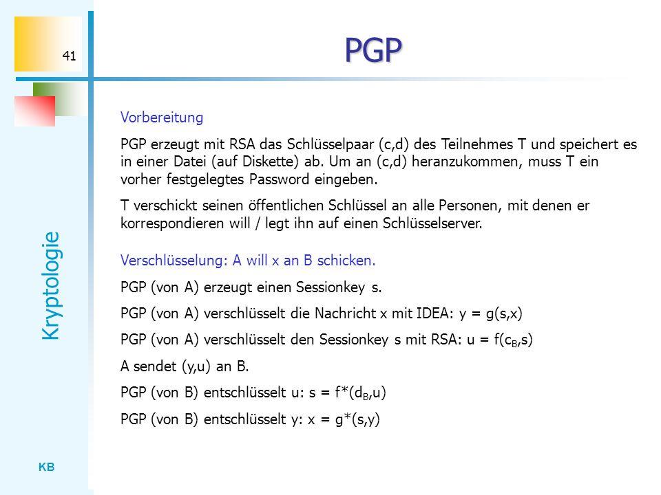 PGP Vorbereitung.