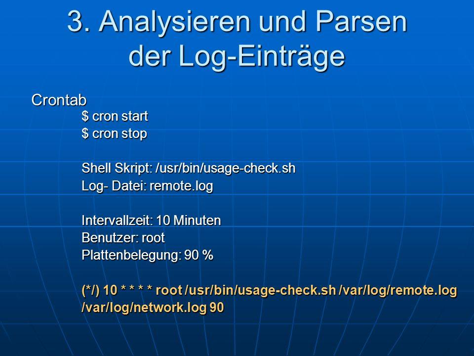 3. Analysieren und Parsen der Log-Einträge
