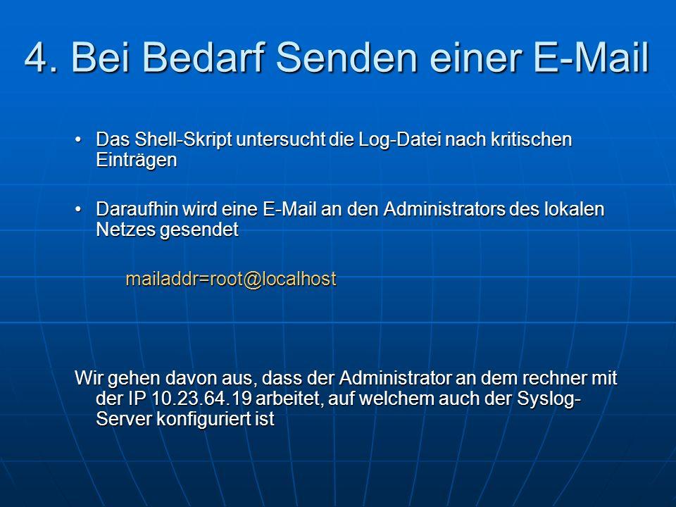 4. Bei Bedarf Senden einer E-Mail