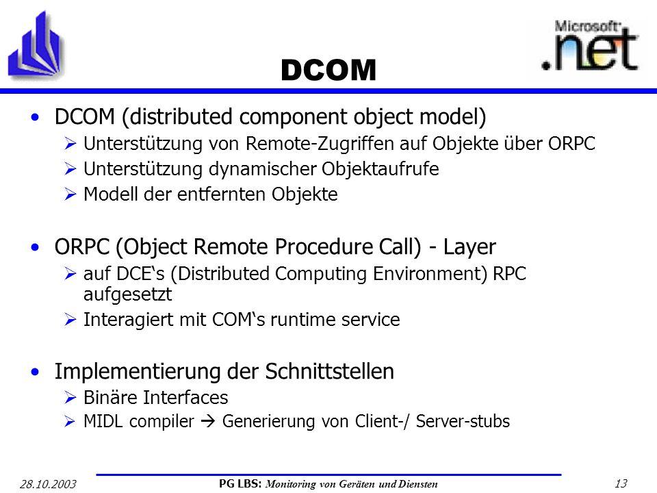 DCOM DCOM (distributed component object model)