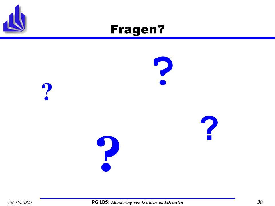 Fragen 28.10.2003