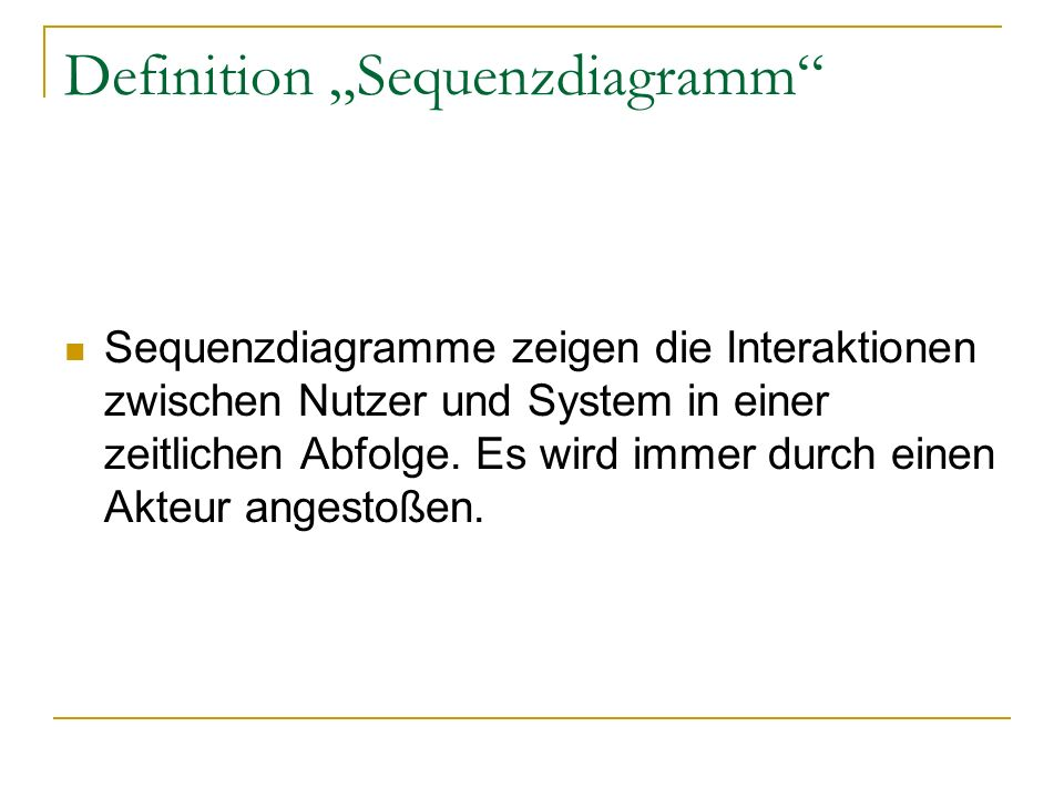 "Definition ""Sequenzdiagramm"
