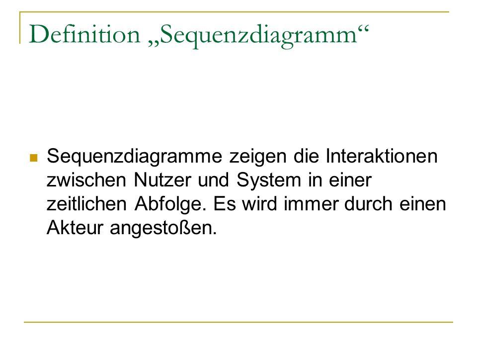 """Definition """"Sequenzdiagramm"""