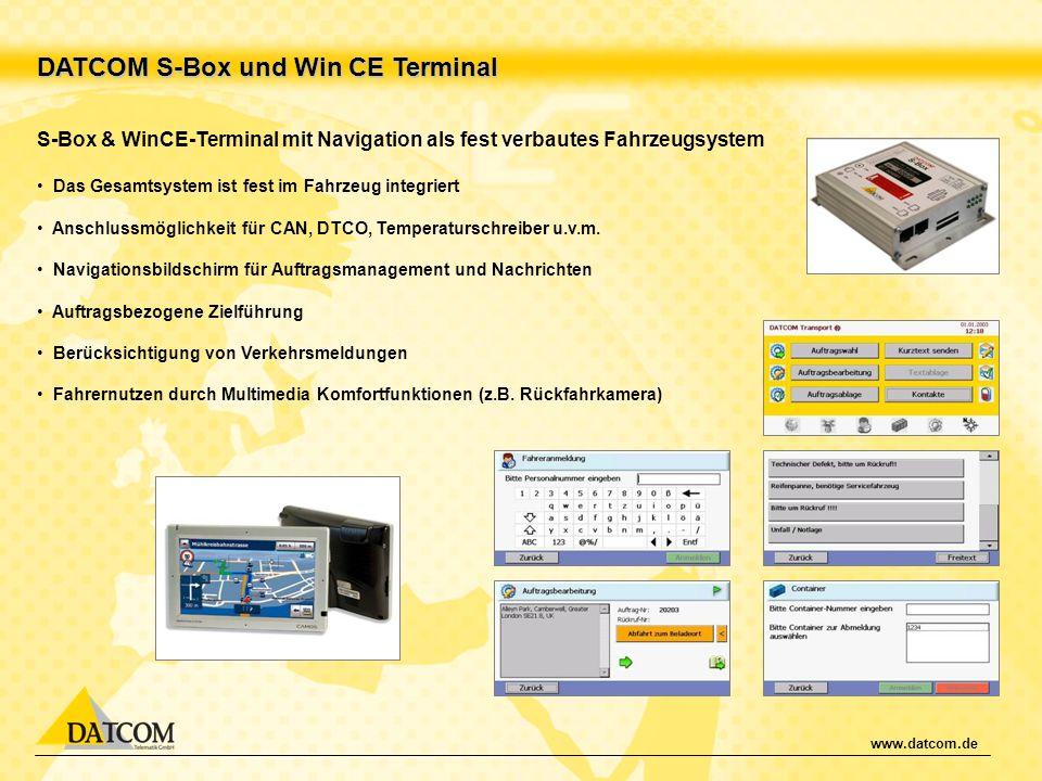 DATCOM S-Box und Win CE Terminal