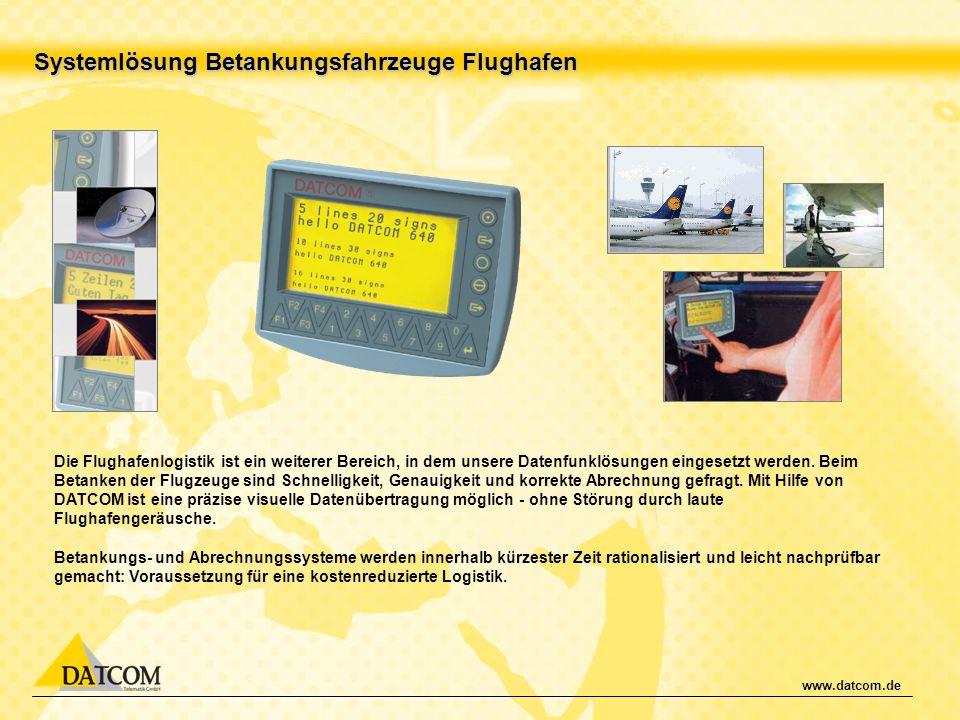 Systemlösung Betankungsfahrzeuge Flughafen