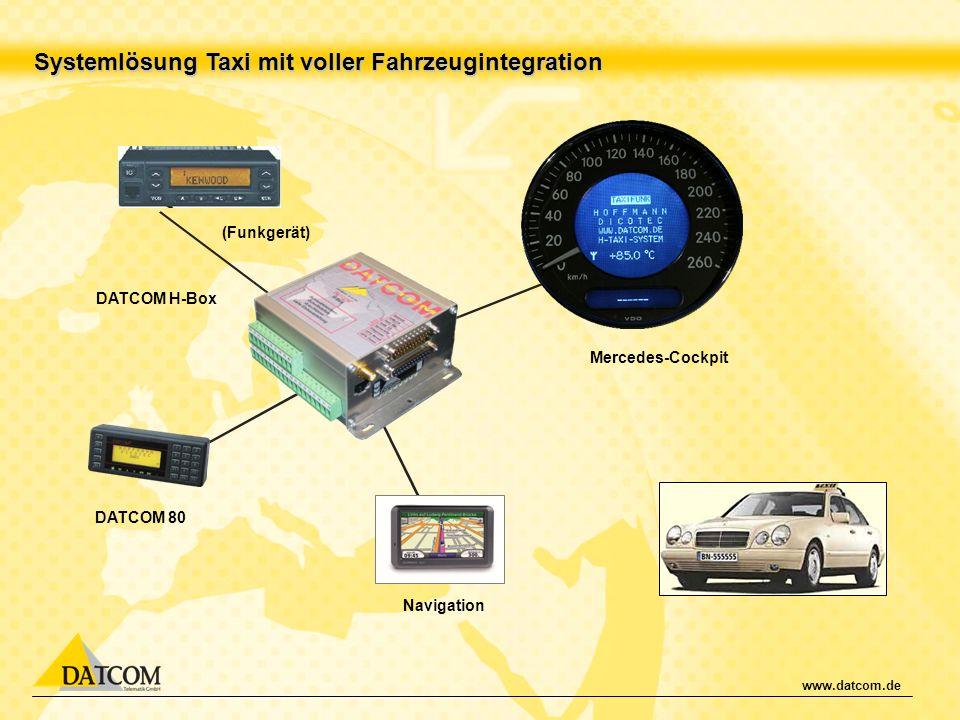 Systemlösung Taxi mit voller Fahrzeugintegration