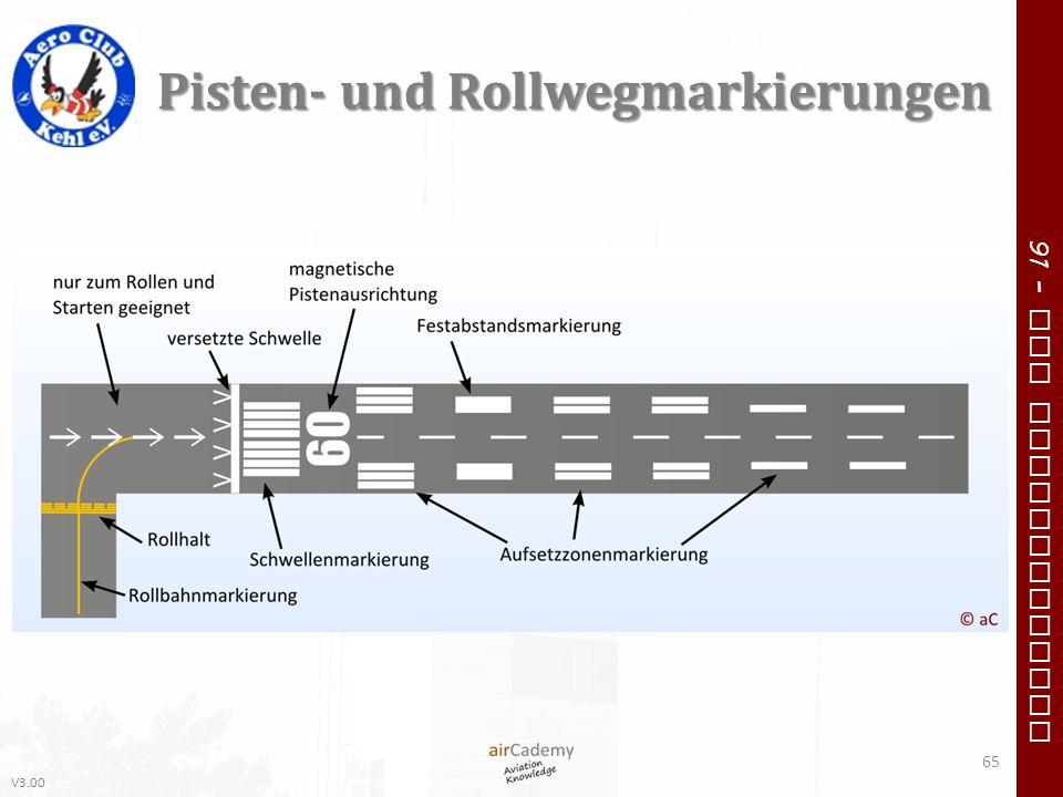 Pisten- und Rollwegmarkierungen