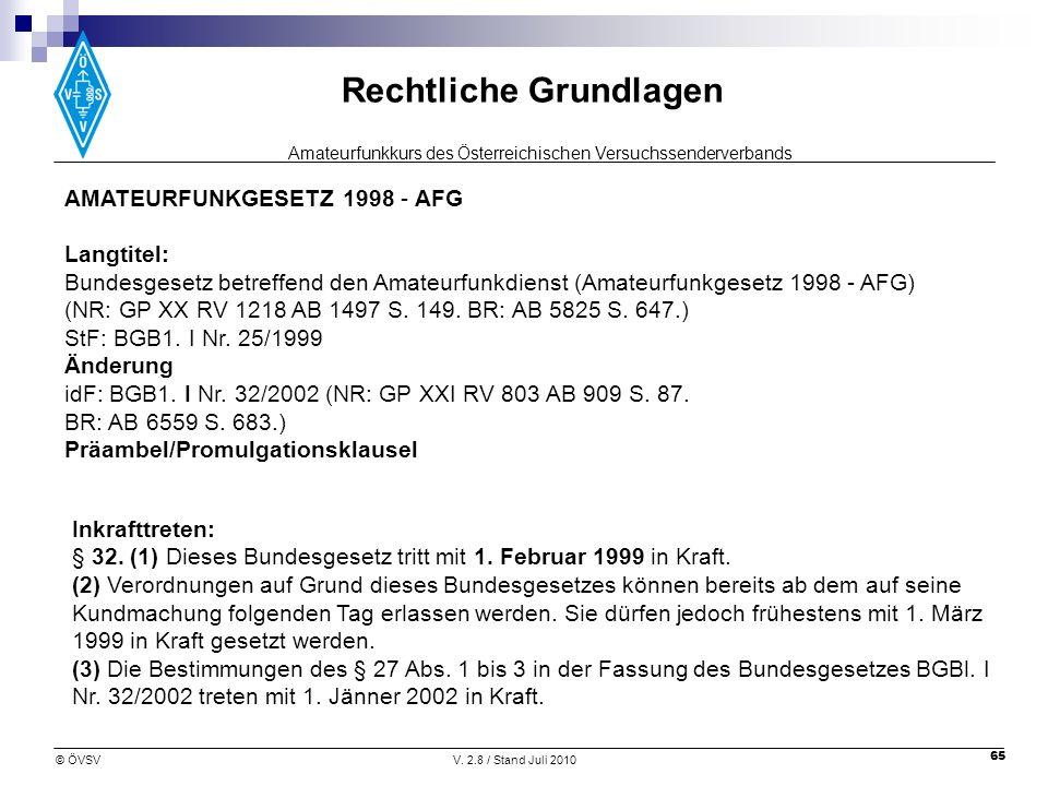AMATEURFUNKGESETZ 1998 - AFG