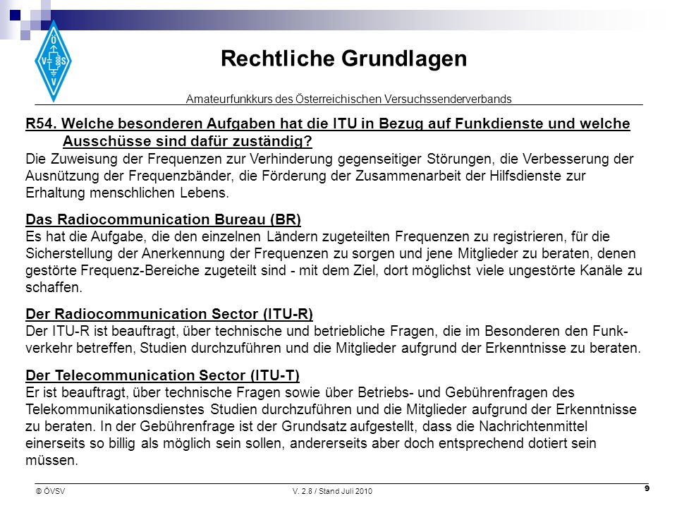 Das Radiocommunication Bureau (BR)