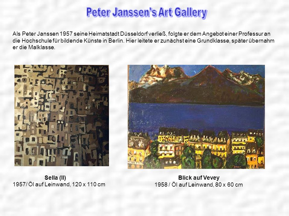 Peter Janssen s Art Gallery