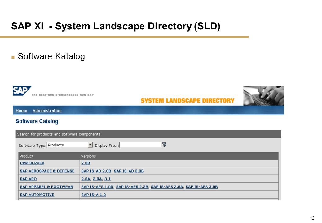 SAP XI - System Landscape Directory (SLD)
