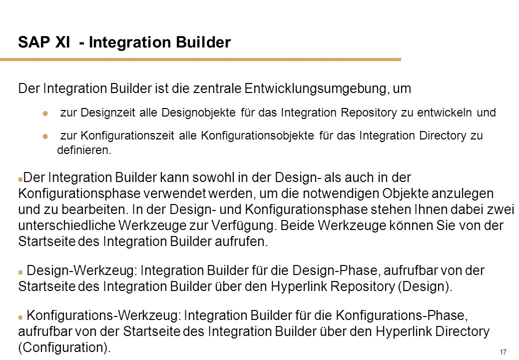 SAP XI - Integration Builder