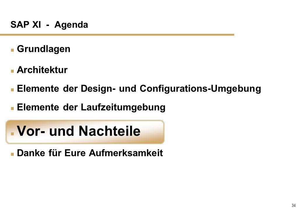 Elemente der Design- und Configurations-Umgebung