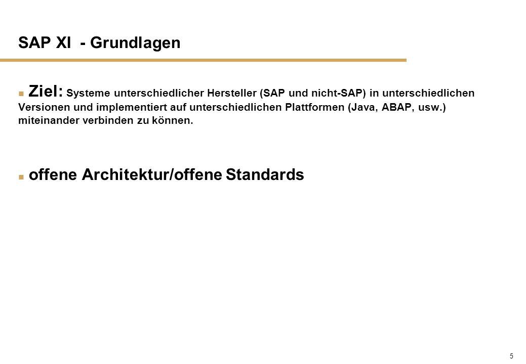 SAP XI - Grundlagen