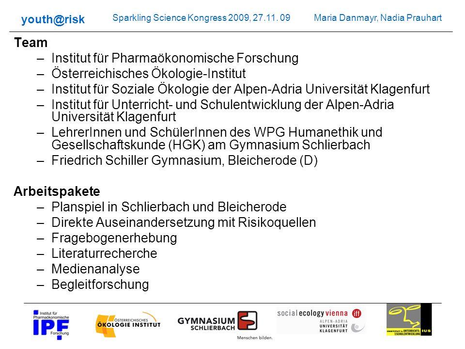 Team Institut für Pharmaökonomische Forschung. Österreichisches Ökologie-Institut.