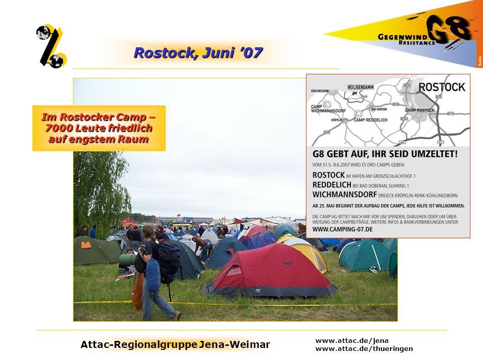 Im Rostocker Camp – 7000 Leute friedlich auf engstem Raum