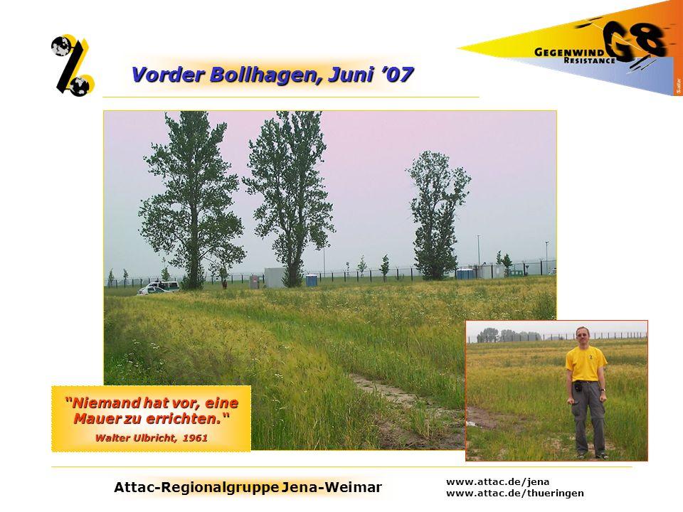 Vorder Bollhagen, Juni '07 Niemand hat vor, eine Mauer zu errichten.