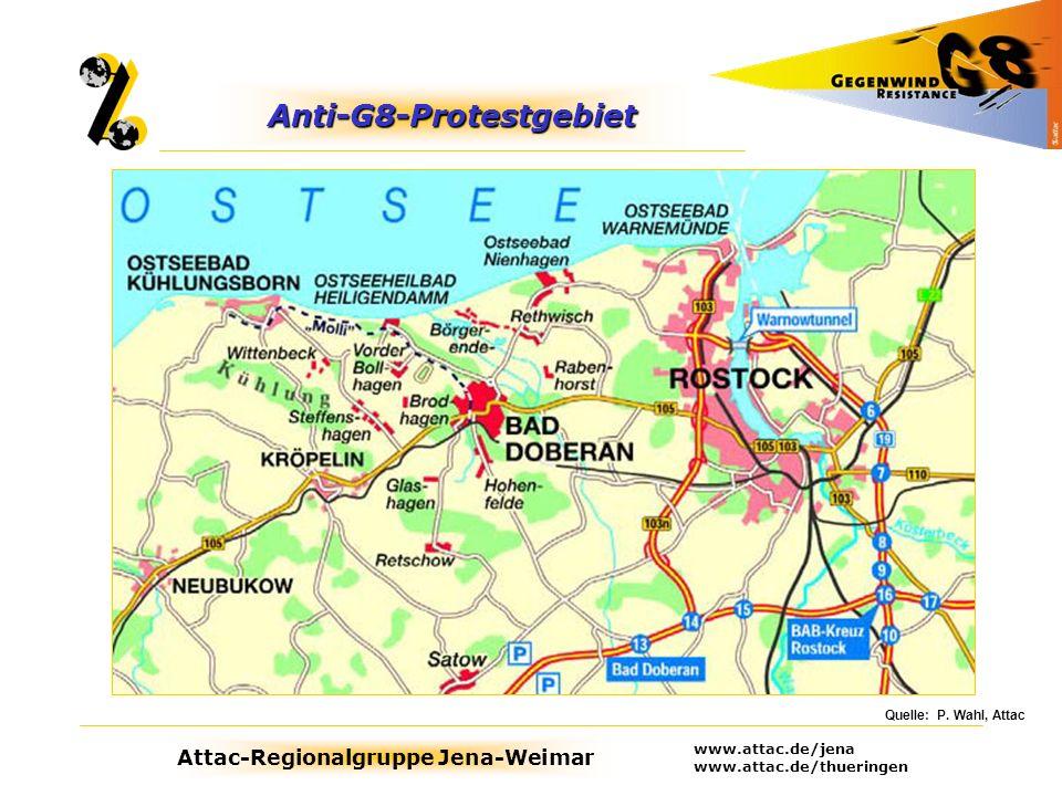 Anti-G8-Protestgebiet