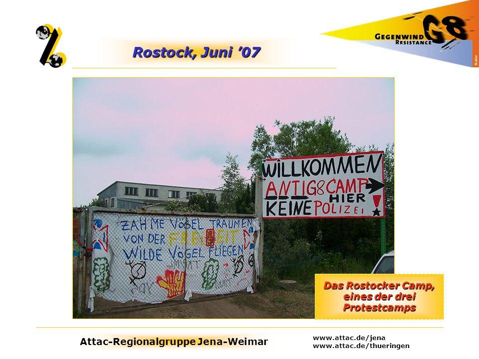 Das Rostocker Camp, eines der drei Protestcamps