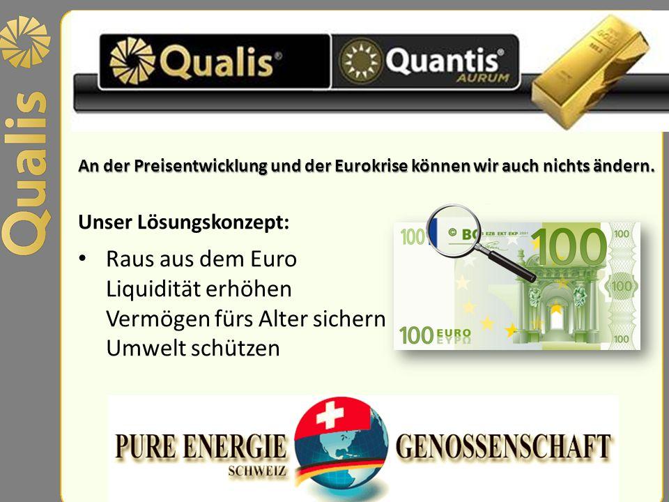 An der Preisentwicklung und der Eurokrise können wir auch nichts ändern.