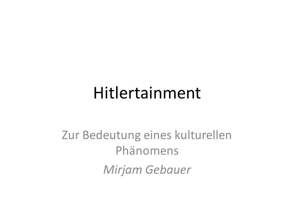 Zur Bedeutung eines kulturellen Phänomens Mirjam Gebauer
