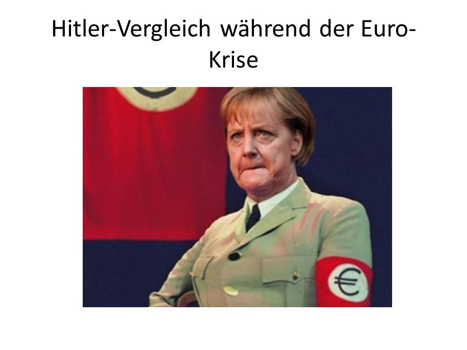 Hitler-Vergleich während der Euro-Krise