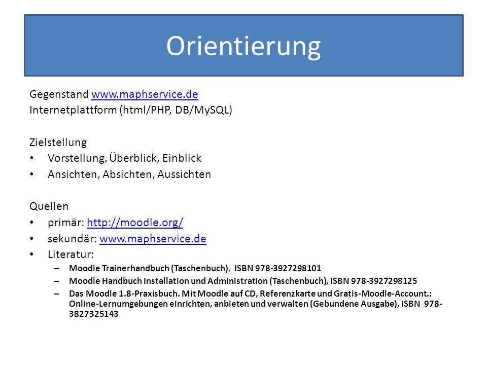Orientierung Gegenstand www.maphservice.de