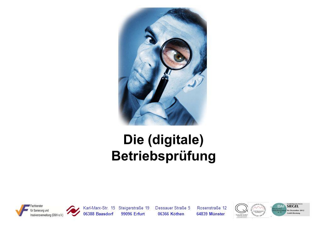 Die (digitale) Betriebsprüfung