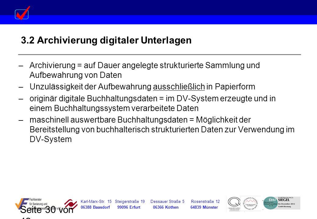3.2 Archivierung digitaler Unterlagen