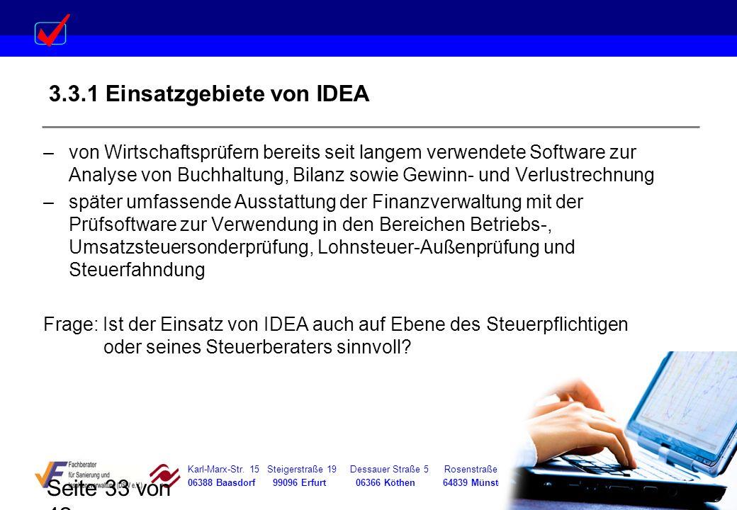 3.3.1 Einsatzgebiete von IDEA