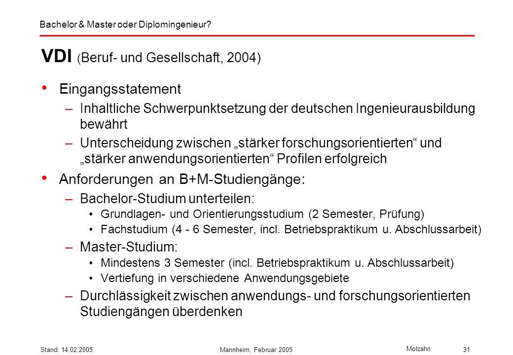 VDI (Beruf- und Gesellschaft, 2004)