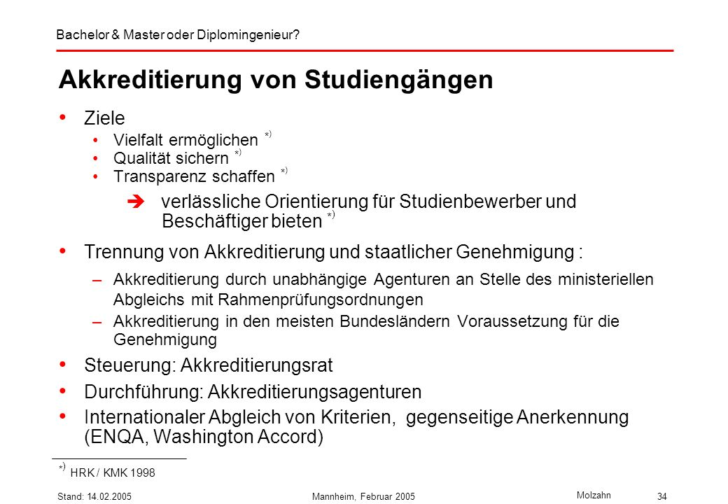 Akkreditierung von Studiengängen
