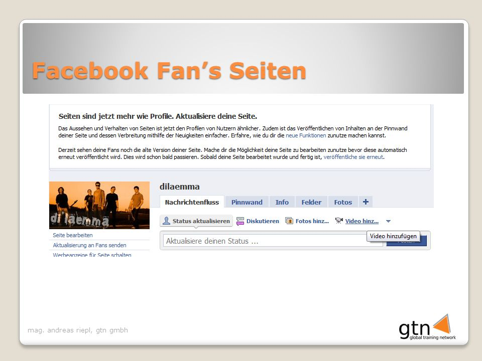 Facebook Fan's Seiten