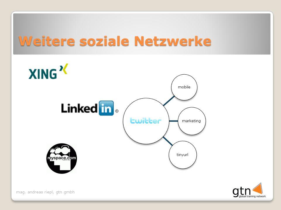 Weitere soziale Netzwerke